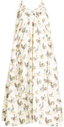 Carven Rooster Print Dress