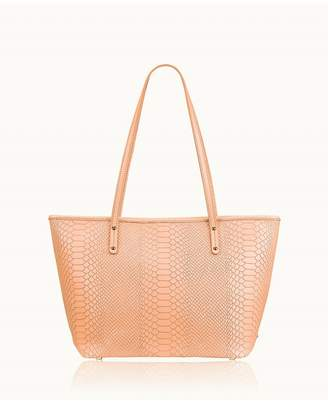GiGi New York Zip Taylor Tote In Melon Embossed Python