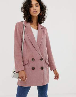 Asos Design DESIGN cord boyfriend coat
