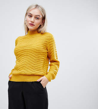 Y.A.S Petite Textured High Neck Sweater
