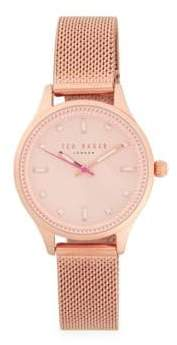 Ted Baker Stainless Steel Analog Bracelet Watch
