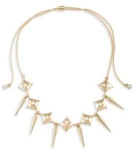 ABS by Allen Schwartz Chokers Spike Drop Adjustable Necklace