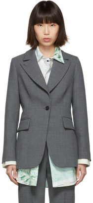MM6 MAISON MARGIELA Grey Suiting Blazer