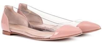Gianvito Rossi Plexi Flat leather ballerinas