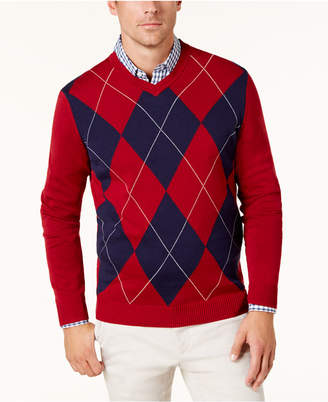 Club Room Men Argyle Pima Cotton Sweater