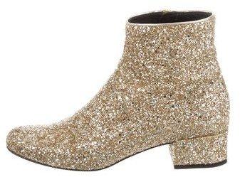 Saint LaurentSaint Laurent Glitter Babies 40 Ankle Boots