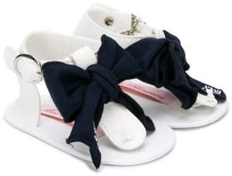 Miss Blumarine bow tie sandals