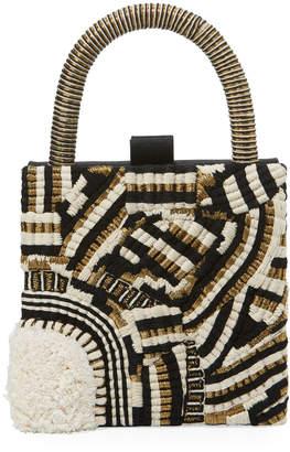 Neiman Marcus Sanayi313 Trasimeno Embroidered Clutch Bag