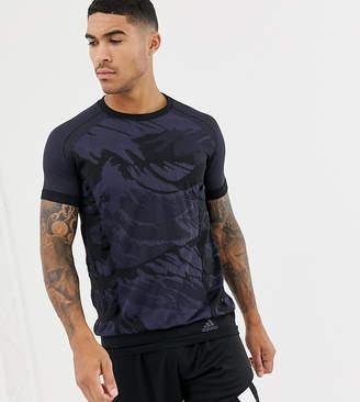 adidas Ultra Primeknit parley t-shirt in black