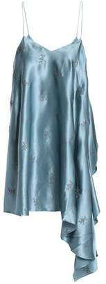 Cinq à Sept Romeo Embroidered Draped Silk-satin Camisole