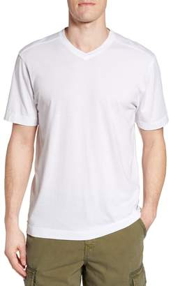 True Grit Cross Raw Seam V-Neck T-Shirt