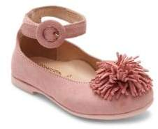 Baby Girl's Sunshine Suede Ankle-Strap Flats