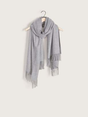 Textured Solid Blanket Scarf with Fringe - Addition Elle