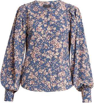Isabel Marant Berny floral-print silk-blend blouse