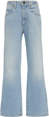 KHAITE Vivian High-Waisted Bootcut Jeans