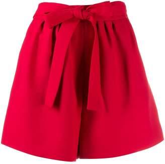 Valentino flared tie waist shorts
