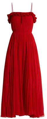ADAM by Adam Lippes Ruffled pleated-chiffon gown