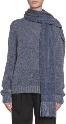 Marc Jacobs Cashmere Scarf-Neck Sweater