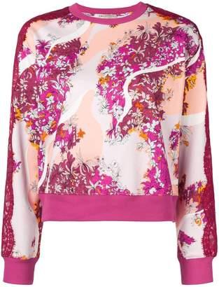 Emilio Pucci lace panels floral sweatshirt