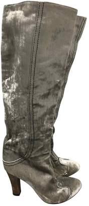 Bottega Veneta Grey Velvet Boots