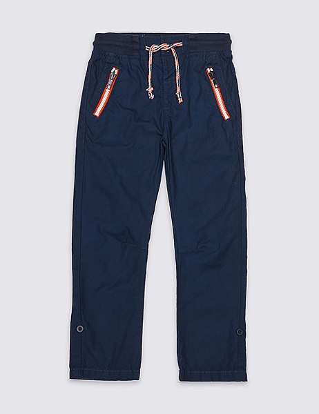 Pure Cotton Ripstop Trousers (3 Months – 7 Years)
