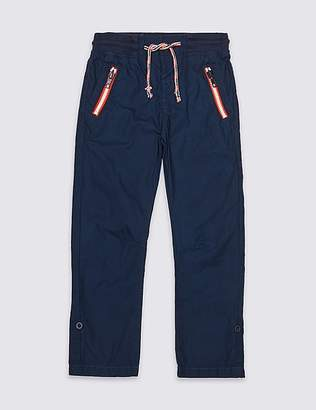 Marks and Spencer Pure Cotton Ripstop Trousers (3 Months - 7 Years)
