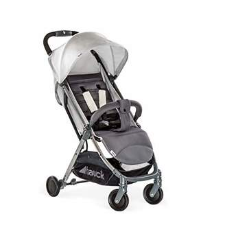 Hauck Swift Plus, Compact Pushchair with Lying Position, Extra Small Folding, One Hand Fold, Lightweight, Carrying Strap, from Birth Up To 15 kg, Lunar