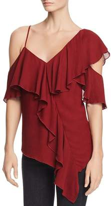 Bailey 44 Ginger Asymmetric Ruffled Top