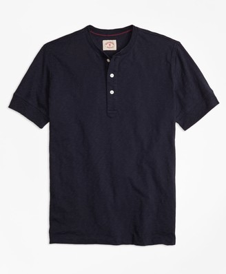 Brooks Brothers Slub Jersey Short-Sleeve Henley