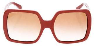 Tory Burch Tinted Oversize Sunglasses