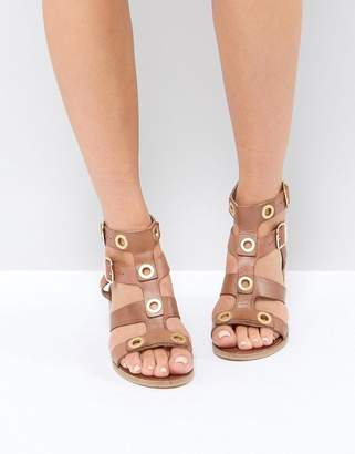 Ravel Stud Leather Kitten heel Sandal