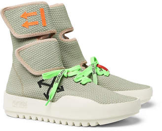 Off-White Moto Wrap Mesh High-Top Sneakers