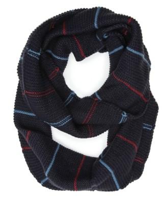 Aston Grey Knit Stripe Infinity Scarf
