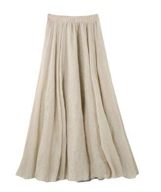 df6b7f6e6 Pandapang-CA Womens Casual Elastic Waist Swing Cotton A line Maxi Skirts L