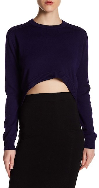 Opening CeremonyOpening Ceremony Hi-Lo Cropped Wool Sweater