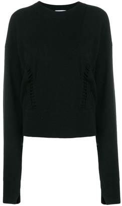 Helmut Lang cropped crewneck sweater