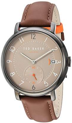 Ted Baker Men's 'Oscar' Quartz Stainless Steel and Leather Watch