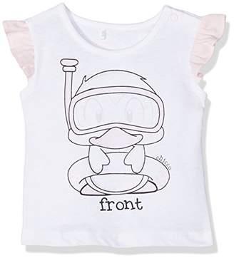 Chicco Baby Girls' 09061868000000 T-Shirt, White (White and Pink 031)