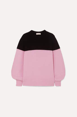 Alexander McQueen Two-tone Ribbed Cashmere Sweater - Pink