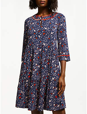 Boden Claire Jersey Dress, Navy