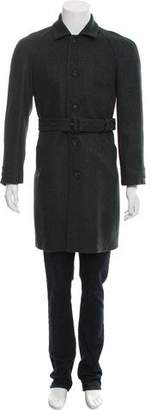 Burberry Wool Racing Coat