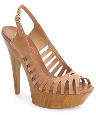 Jessica Simpson 'Finch' Platform Peep Toe Sandal (Women) $97.95 thestylecure.com