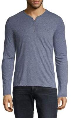John Varvatos Heathered Long-Sleeve Henley