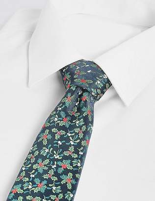 Marks and Spencer Holly & Mistletoe Christmas Tie