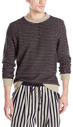Thaddeus O'Neil Men's Striped Sweater