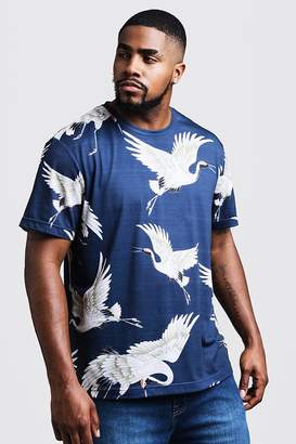 Big & Tall Crane Print T-Shirt