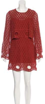 Intermix Lace Mini Dress