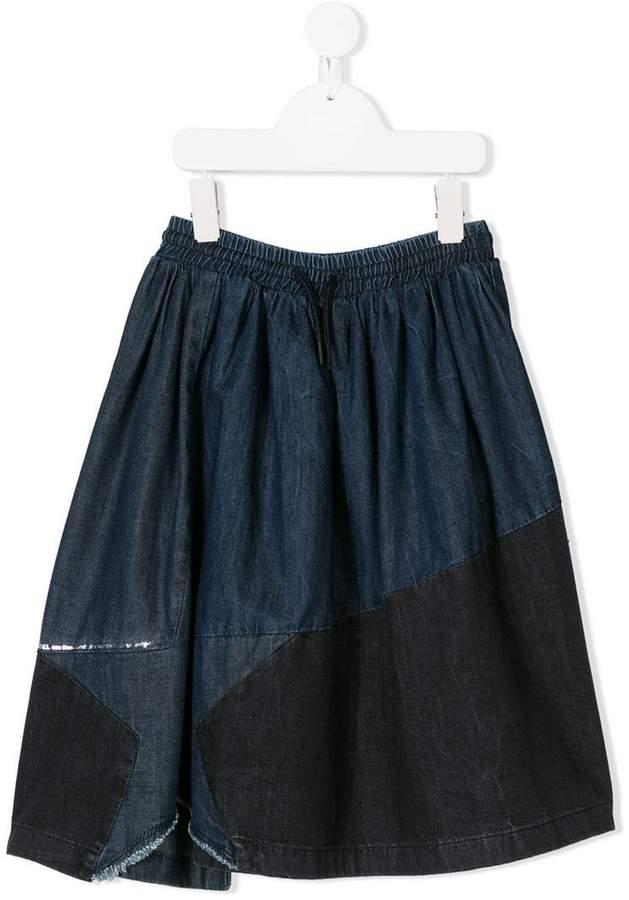 Diesel Kids panelled denim skirt