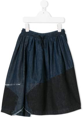 Diesel panelled denim skirt