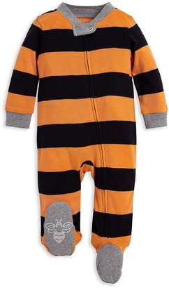 Burt's Bees Rugby Stripe Organic Baby Sleep & Play Halloween Pajamas